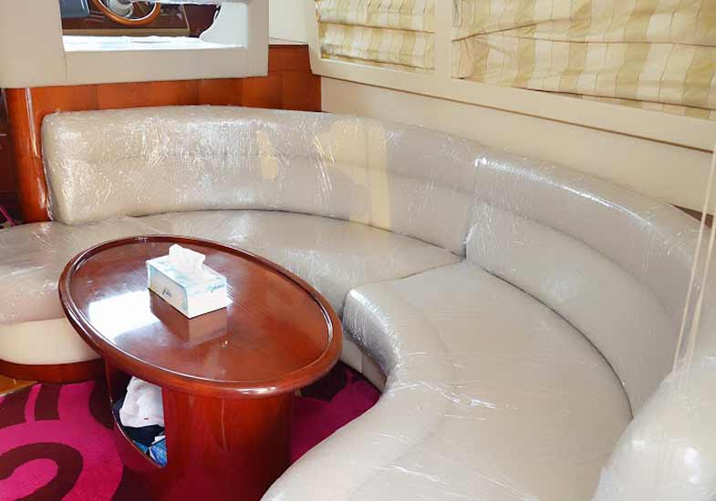 Luxurious 42 Feet Yacht Living Room