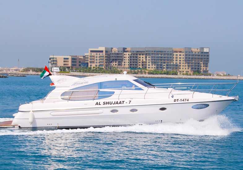 Trip to 50 Feet Luxury Yacht Cruise in Dubai