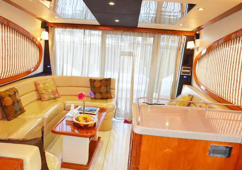 Lavish Yacht Living Room