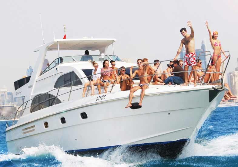 Fun Trip to 55 Feet Luxury Yacht Cruise in Dubai