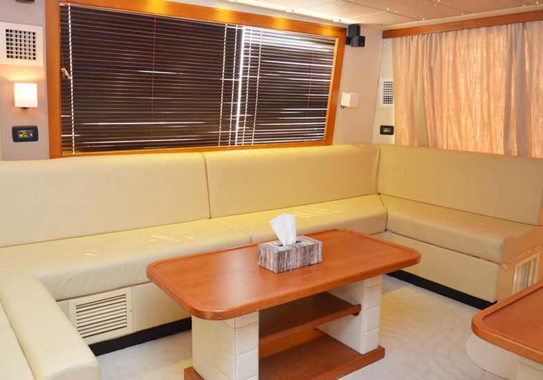 Amazing Luxury Yacht Living Room