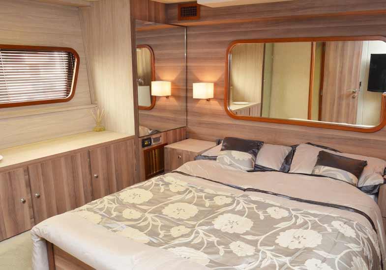 Lavish Bedrooms in 70 Feet Yacht
