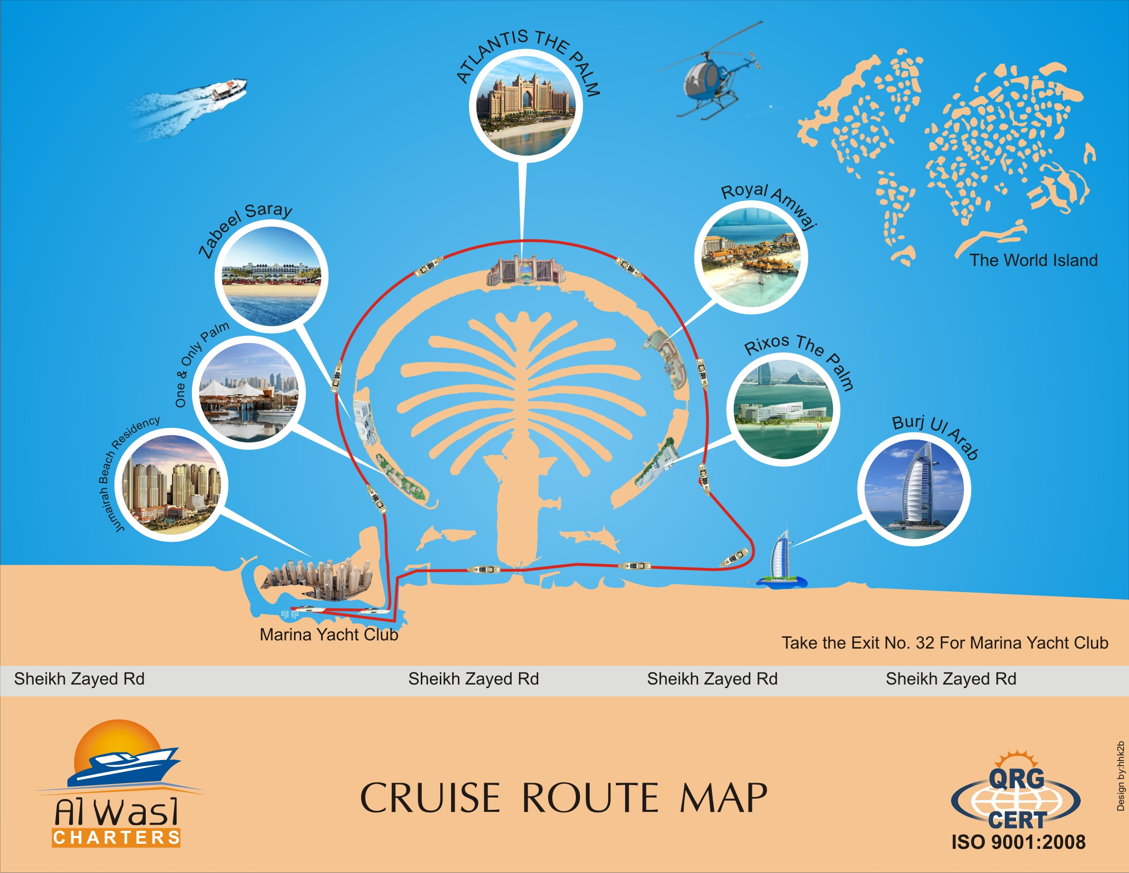 Cruise Route Map Al Wasl